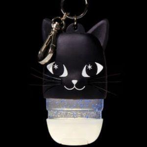 BBW Black Cat Lanyard Lighted Holder w/ 2 FREE gel